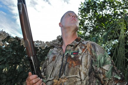 Andy 'Crowman' Crow chooses Stoney Creek clothing for his pigeon shooting needs.