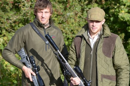 Tom Wood and Scott Armstrong (Northampton Saints) out for a day's stalking.Ambassadors for Uk Gunworks, Stoney Creek and Zeiss Sport Optics.