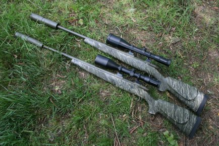 A matched pair of Sako 75 .308 stalking rifles.