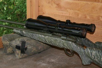 Another picture of the matched pair of Sako 75 .308 stalking rifles.